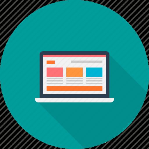 device, laptop, screen, template, web, website icon