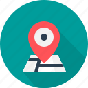 address, destination, direction, location, map, navigation, pointer icon