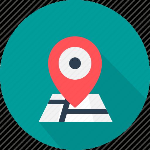 address, destination, direction, location, map, navigation, pointer icon