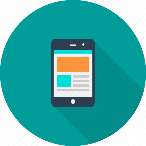 mobile, phone, responsive, template, website icon