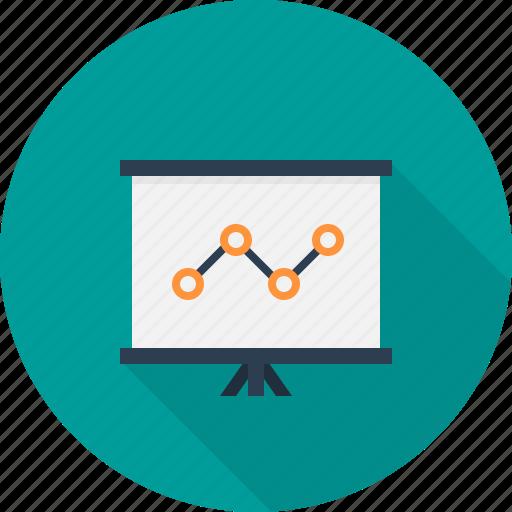 analysis, presentation, report, slide icon