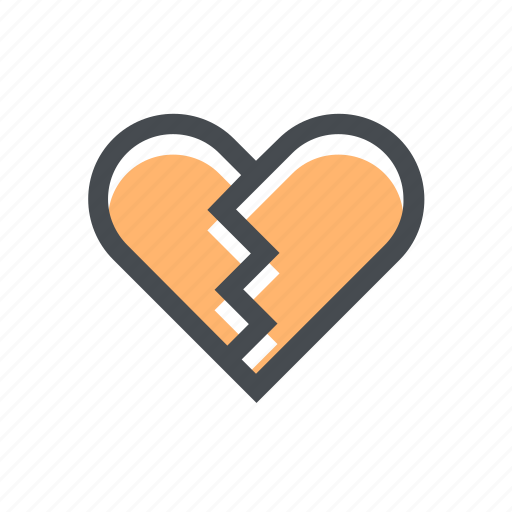 broked, end, ends, heart, love, romance, valentine icon