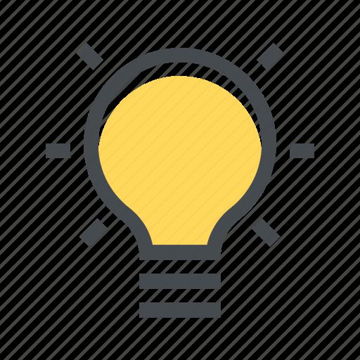 bulb, electric, energy, idea, lamp, light, off icon
