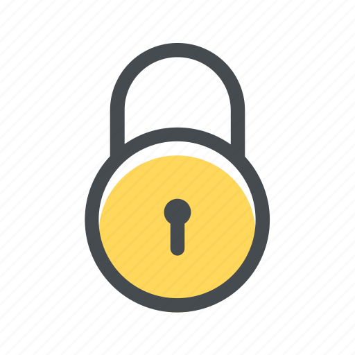 cadeado, lock, padlock, protection, safety, secure icon