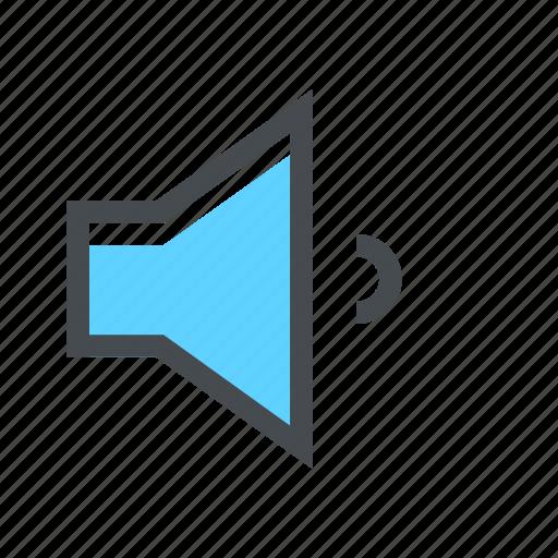 audio, low, music, sound, speak, speaker, volume icon