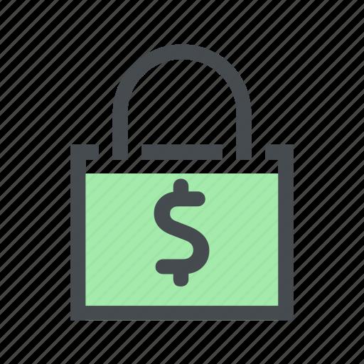 bag, cash, finance, money, shop, shopping icon