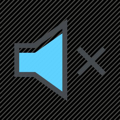 audio, mute, no, sound, speak, speaker, volume icon