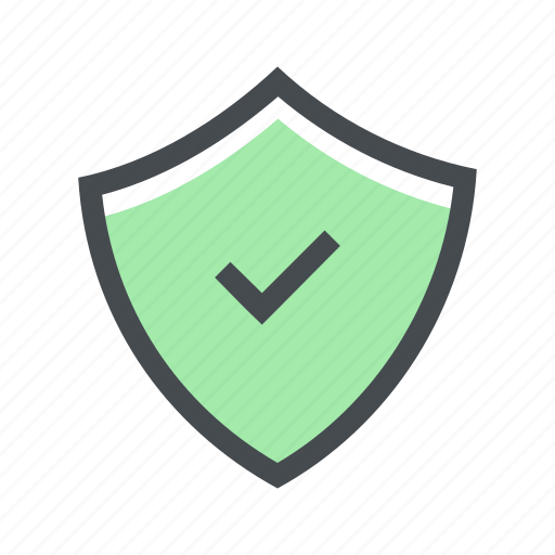 correct, lock, protection, secure, security, shield icon