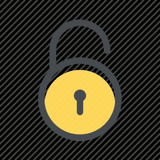 cadeado, fail, padlock, protection, unbroked, unlock icon