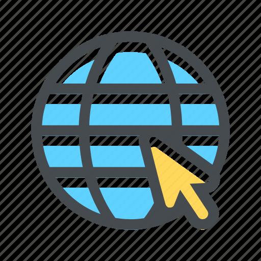 cursor, globe, internet, mouse, seo, web, www icon