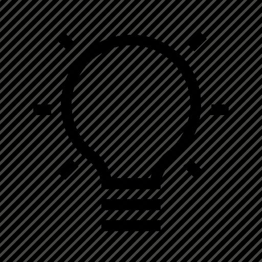 lamp, light, off icon