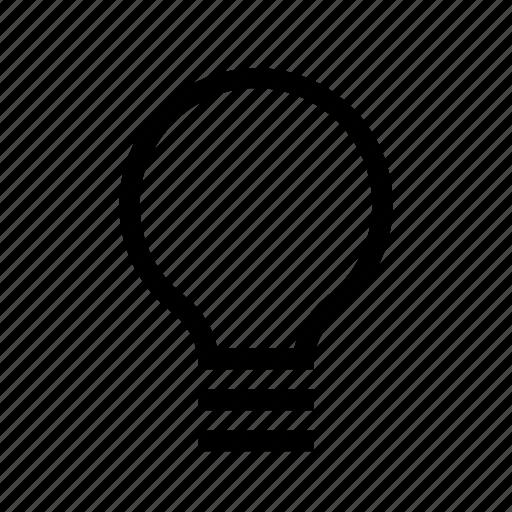lamp, light, on icon