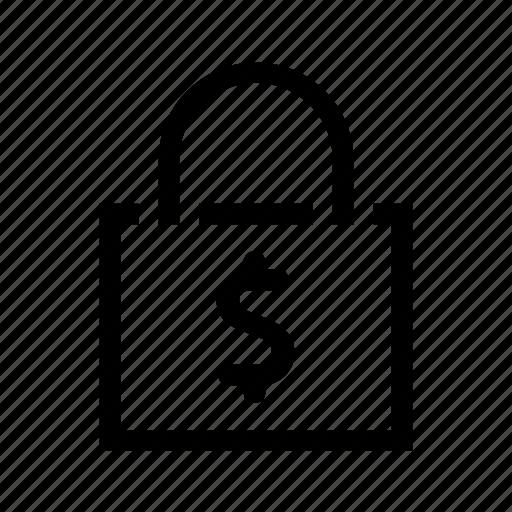 bag, money, shop icon