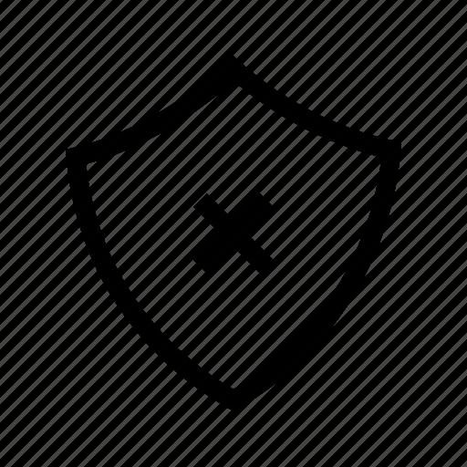 fail, failed, off, security, wrong icon