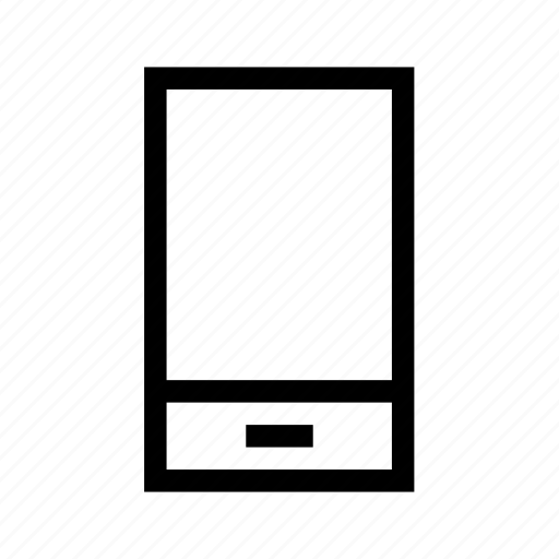 cel, celular, device, minimalist, smartphone icon
