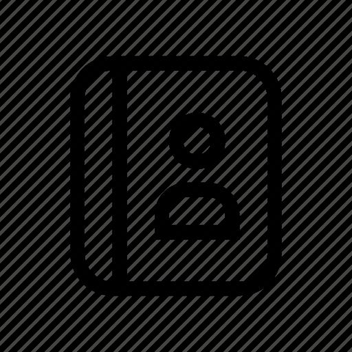agenda, appointment, book, user icon