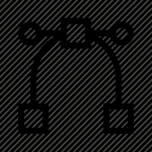 curves, illustrator, patch, points, vetor icon