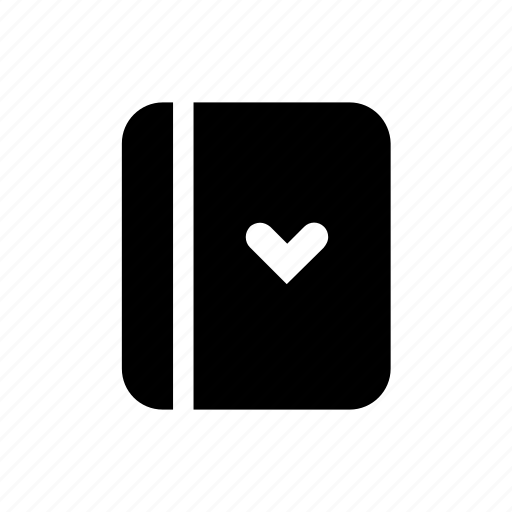 book, heart, love, lover, notebook icon