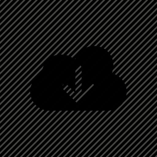 baixar, cloud, download icon