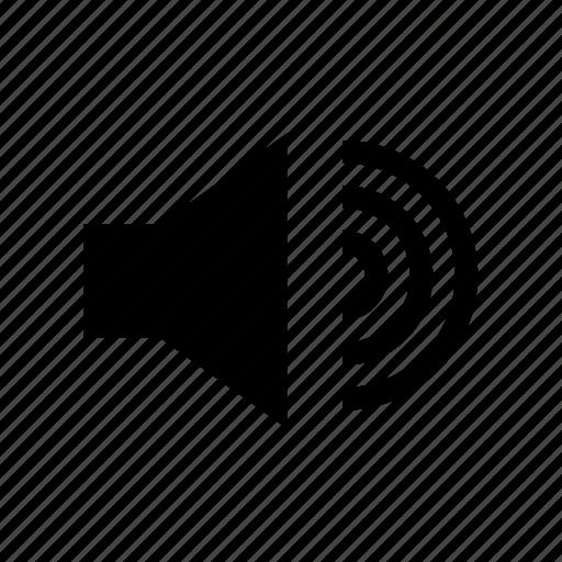 high, sound, speak, speaker, volume icon