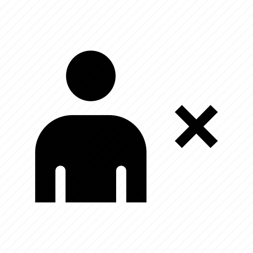 people, person, remove, user icon