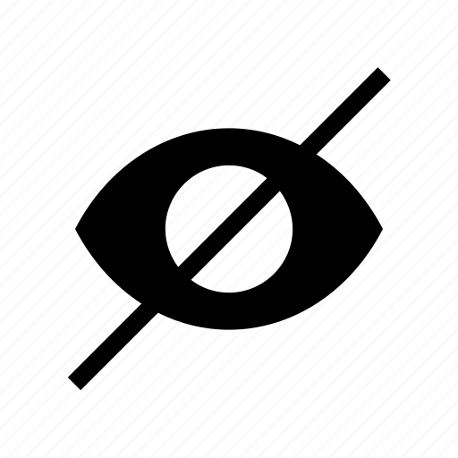 eye, hide, unview icon