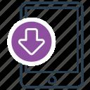 attachment, download, mobile, receive, web icon