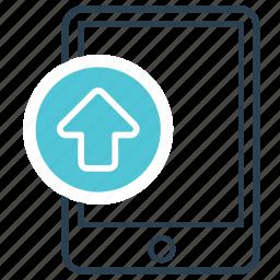 attachment, mobile, sending, upload, web icon