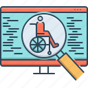 accessibility, magnifying, magnifying glass, optimization, search, wheelchair