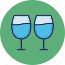 champagne glasses, drink, party, wine glasses icon