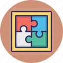 jigsaw puzzle, togetherness, jigsaw, puzzle, puzzle piece icon