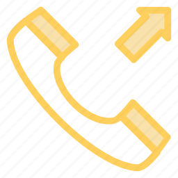 calling, outgoingcall, phonecall, phonereceiver, receivericon icon