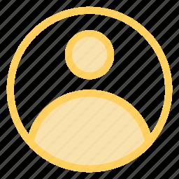 account, person, profile, usericon icon