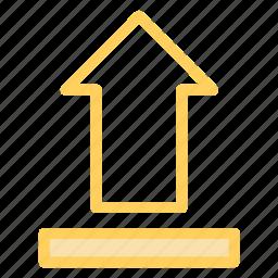arrow, cloud, up, uploadicon icon