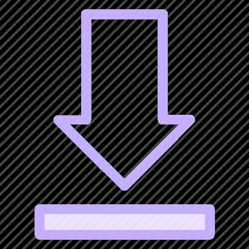 arrow, down, download, downloads, saveicon icon