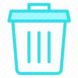 bin, delete, recycle, remove, trashicon icon