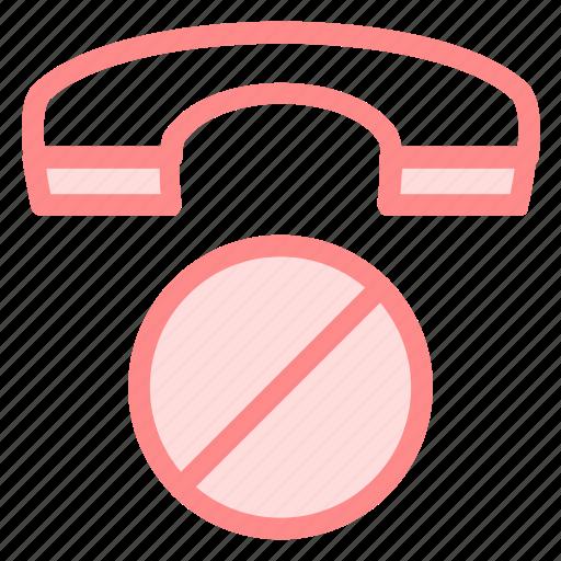 ban, block, call, communication, phoneicon icon