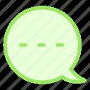 bubble, chat, waiting, writingicon icon