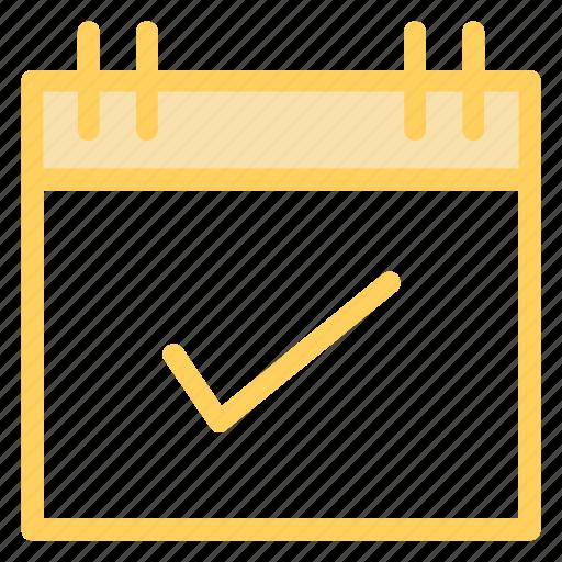 calendar, checkmark, date, eventicon icon