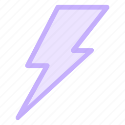 charge, electric, electricity, forecast, lightning, power, weathericon icon