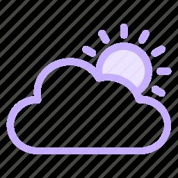 cloud, cloudy, sun, weathericon icon