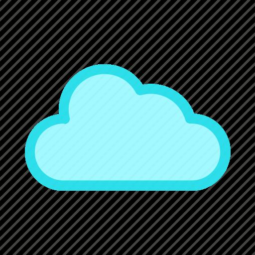 cloud, cloudy, computing, weathericon icon