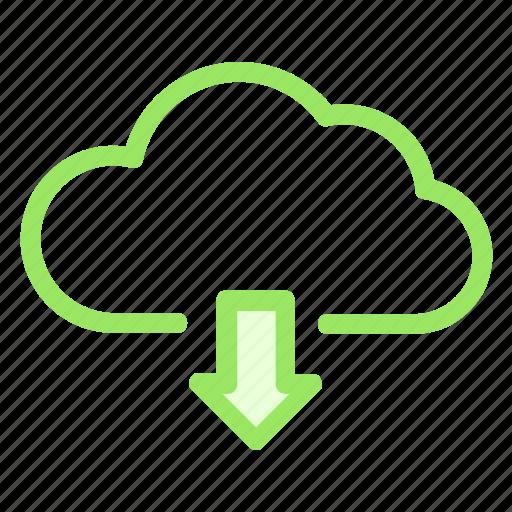 cloud, data, downloadicon, storage icon