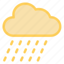 cloud, forecast, rain, weathericon icon
