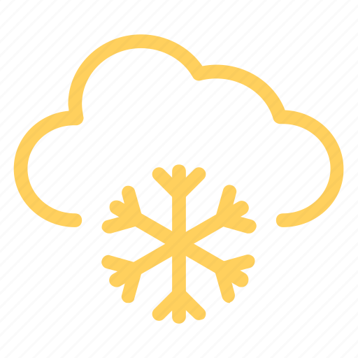 clouds, snowfalling, snowing, weather, wintericon icon