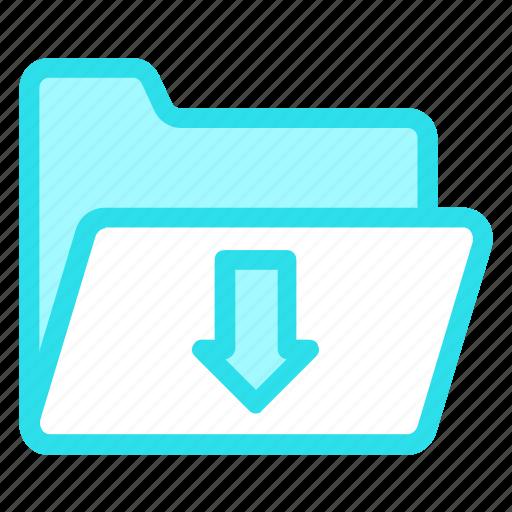 download, files, folder, storageicon icon