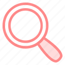 find, glass, magnifying, searchicon icon
