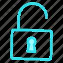 lock, secure, unlock, unlockedicon