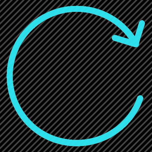 refresh, reload, repeat, restart, retryicon icon