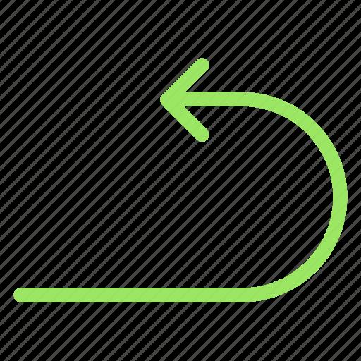 arrow, back, replay, rewindicon icon